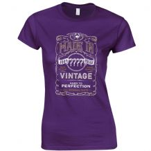 Made In Custom Year Ladies Fitted T-Shirt